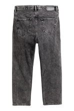 Straight Cropped Jeans - Noir washed out - HOMME | H&M FR 3
